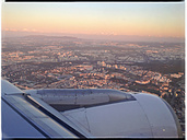 View on an aircraft engine, city of Lisbon, Portugal - MSF004598