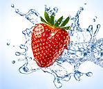 Strawberry and water splash - RAMF000060