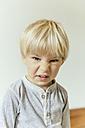 Little boy making a rabbit face - MFF001648