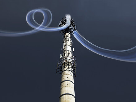 Radio tower with data stream - MFF001655