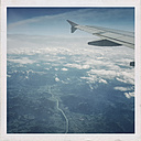 Germany, view of Alps from plane - EL001523