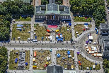 Germany, Munich, aerial view of Koenigsplatz during an event - KLE000011