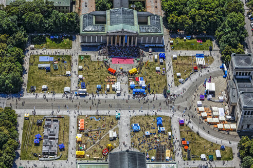 Germany, Munich, aerial view of Koenigsplatz during an event - KLE000011
