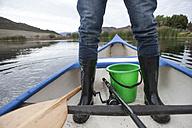 Man's leg in a canoe - ZEF005790