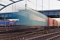 Germany, Hamburg, railway track with freight traffic - MS004626