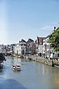 Belgium, Flanders, Ghent, Houses at riverside of Leie river - HL000913