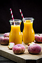 Peach smoothie and vineyard peaches - LVF003475