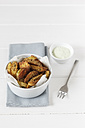 Parmesan herbs potato wedges  with avodado dip - EVGF001770