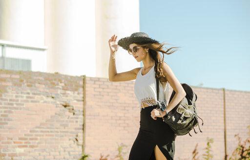 Young woman wearing boho style - UUF004748