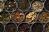 Tins of different sorts of tea - KSWF001541