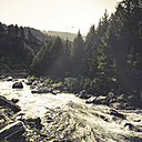 Italy, Lombardy, Valmanenco, rapid mountain stream - DWIF000515