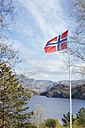 Norway, Stavanger, Norwegian national flag - STDF000198