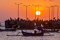 Indonesia, Bali, Jimbaran, Sunset at the ocean - KNTF000049