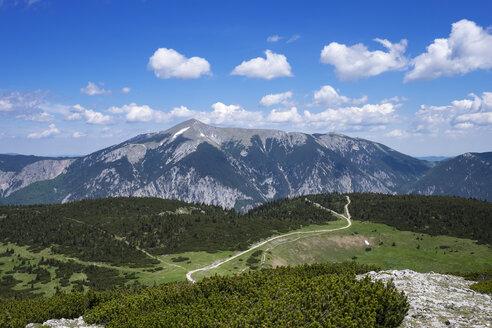 Austria, Lower Austria, Vienna Alps, View from Jakobskogel to Schneeberg - SIEF006595