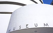 USA, New York, Manhattan, part of facade of Museum of Guggenheim Museum - SEG000380
