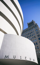 USA, New York, Manhattan, part of facade of Museum of Guggenheim Museum - SEG000381