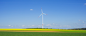 Germany, Tomerdingen, wind park, rape field - WGF000670