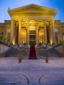 Italy, Sicily, Palermo, Teatro Massimo at Piazza Verdi - AMF004097