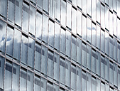 Germany, Hamburg, modern office building, blinds - KRPF001446