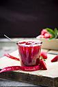 Glass of homemade strawberry jam - LVF003549