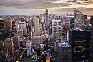 USA, New York State, New York City, Manhattan, Skyline at sunset - GIOF000008