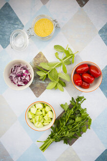 Ingredients of couscous salad - LVF003593