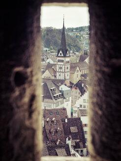 Switzerland, Schaffhausen, view to the  historic old town from Munot - KRPF001509