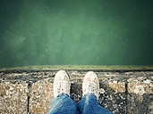 Person standing at quay - ELF001547
