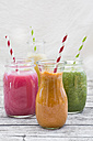 Four glasses of different smoothies - LVF003606