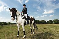 Dressage rider on horse - TAMF000233