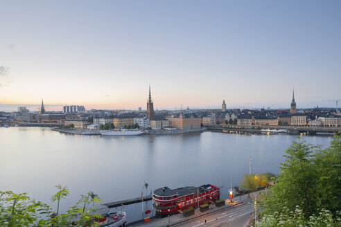 Sweden, Stockholm, view from Soedermalm to the old town - MSF004670