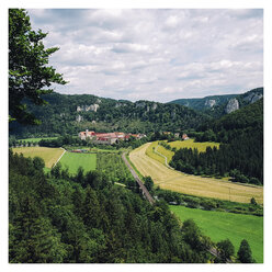 Germany, Baden-Wuerttemberg, landscape with Beuron Abbey - ELF001555