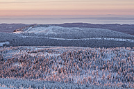 Germany, Saxony-Anhalt, sunrise in Harz National Park in winter - PVCF000442