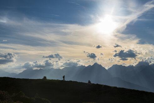 Austria, Tyrol, hiker in mountainscape - MKFF000224