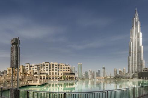 United Arab Emirates, Dubai, Burj Khalifa, Burj Khalifa Lake and Souk Al Bahar - NKF000277