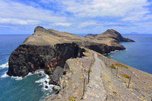Portugal, Madeira, Rocky atlantic coast, path - FDF000103