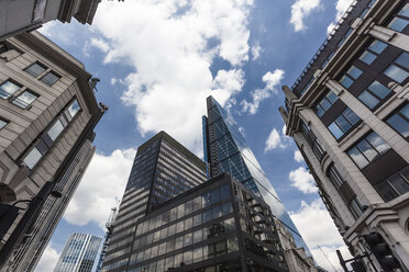 UK, London, facades of office buildings in the financial district - ZMF000410