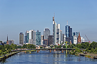 Germany, Frankfurt, view to skyline with Floesserbruecke in the foreground - SIEF006640