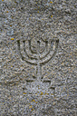 Symbol of Israelites carved in granite - AX000762