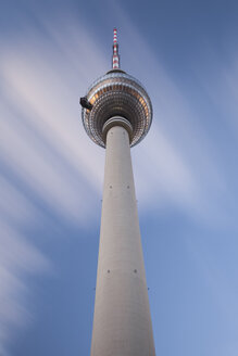 Germany, Berlin, view to television tower from below - ZMF000415