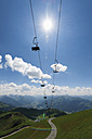 Austria, Tyrol, Kitzbuehel, chair lift Brunellenfeld - VIF000344