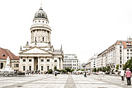 Germany, Berlin, view to French Cathedral at Gendarmenmarkt - CHPF000155