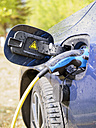 Reloading of an electric car, close-up - LAF001433
