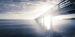 Germany, Ruegen, Binz, sunset at pier - PUF000377