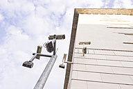 Germany, Berlin, BND new building of german intelligence agency, monitoring cameras - CM000297