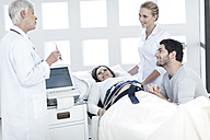 Pregnant woman getting medical check up - ZEF006740