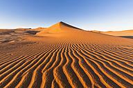 Africa, Namibia, Namib Desert, View to desert dunes at Namib-Naukluft National Park - FO008154
