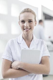 Portrait of smiling nurse - ZEF005981