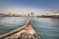 UAE, Dubai, view to Bur Dubai from water taxi on the Dubai Creek - NKF000307