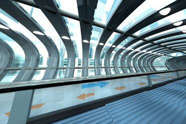 Futuristic subway or train station, 3D Rendering - SPCF000058